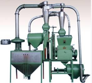 300-450kg/h 6FC Wheat Flour Mill Plant, Milling Machine